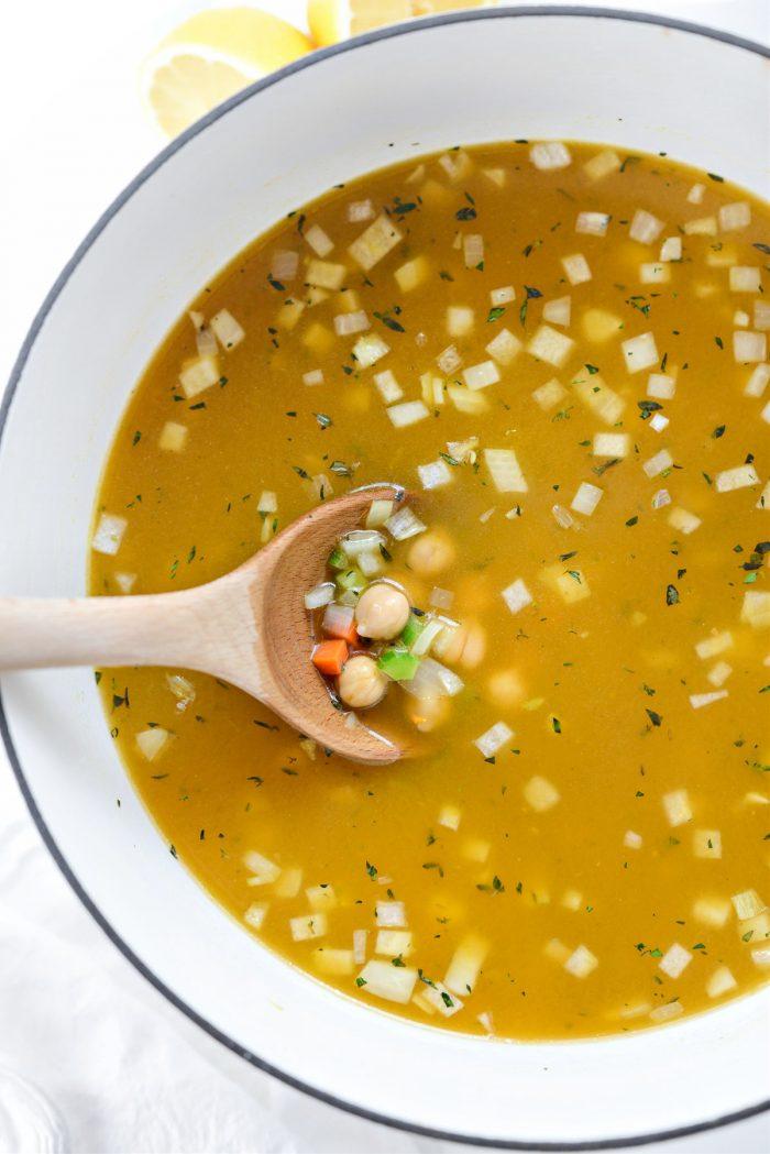 stir and heat over medium
