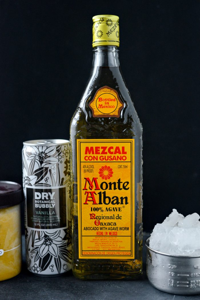 bottle of mezcal tequilla