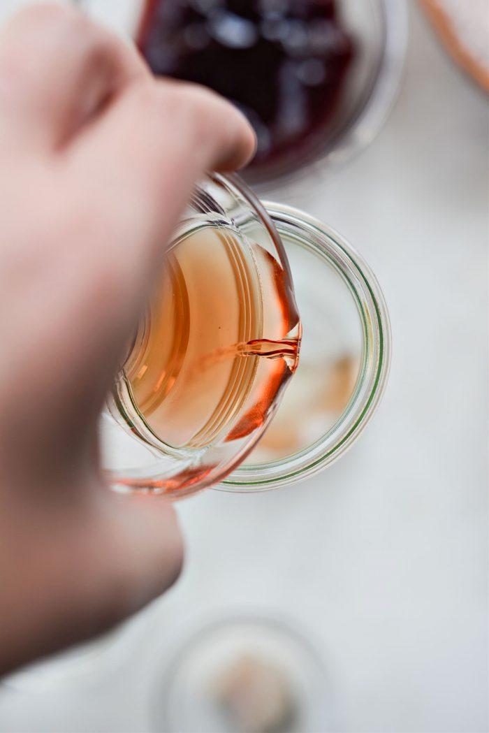 pouring raspberry blush vinegar