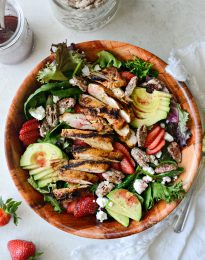 Strawberry Goat Cheese Spring Salad