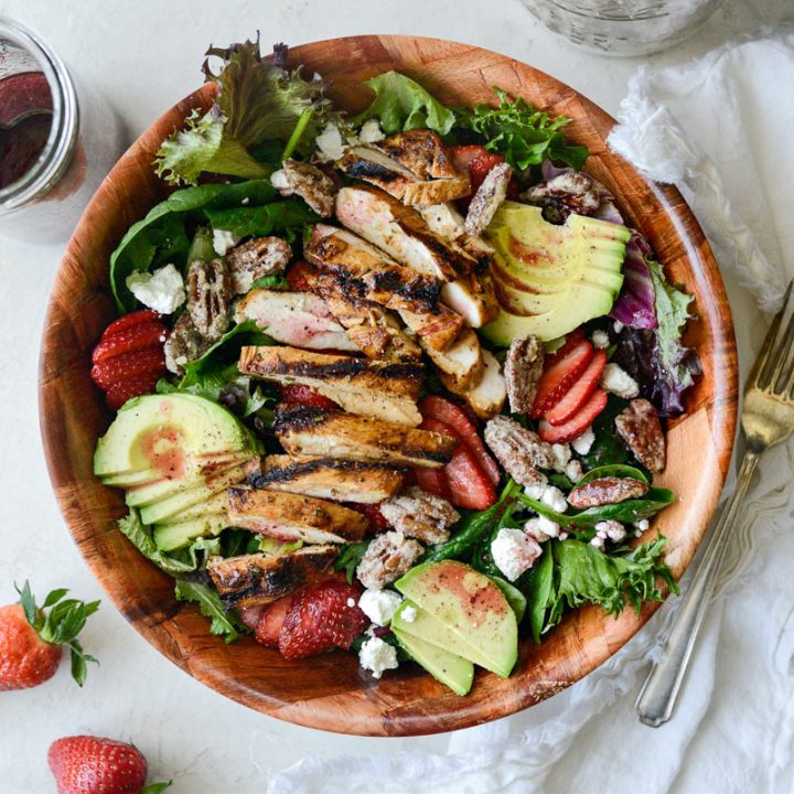 Strawberry Goat Cheese Spring Salad horizontal