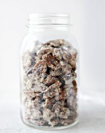 jar of candied walnuts