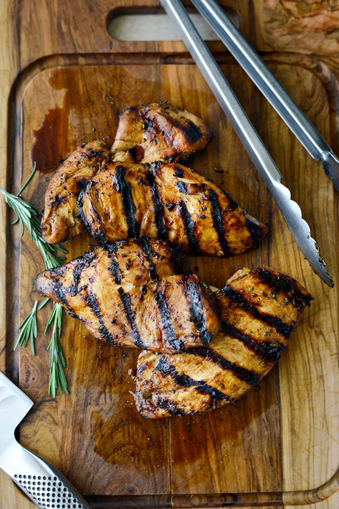 straight off the grill, Your Basic Grilled Chicken Marinade chicken breasts