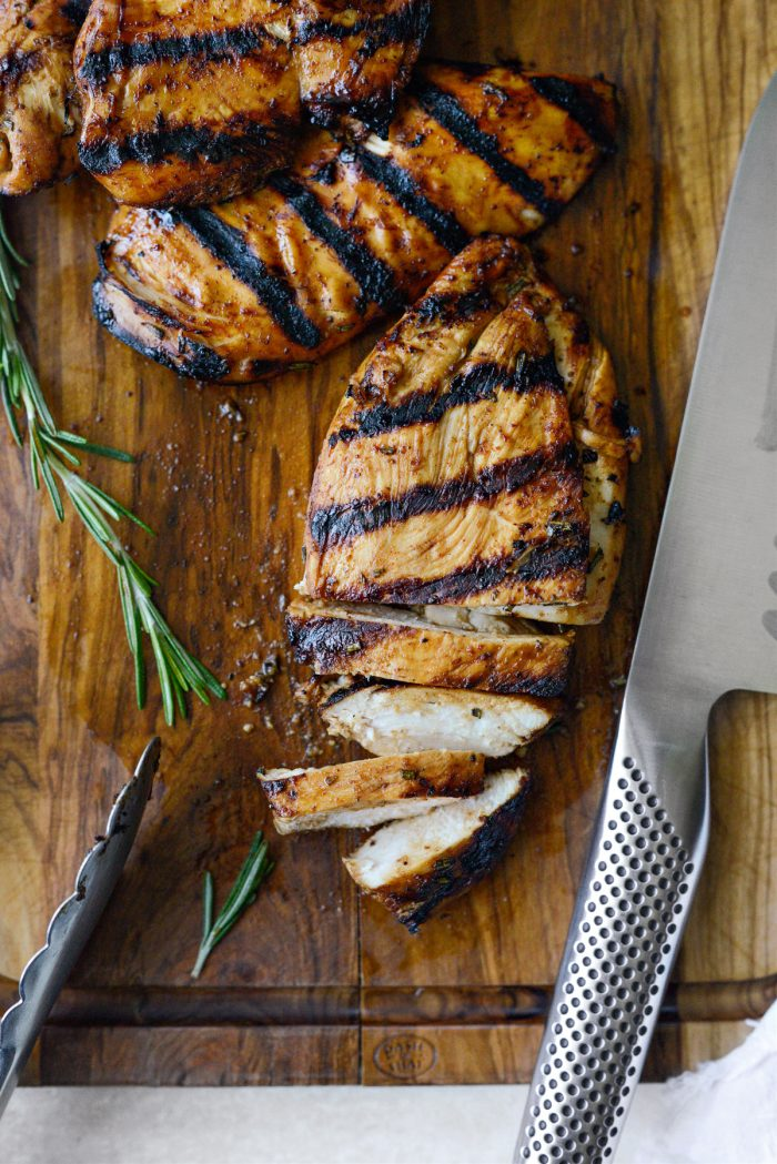 Moist chicken using Your Basic Grilled Chicken Marinade