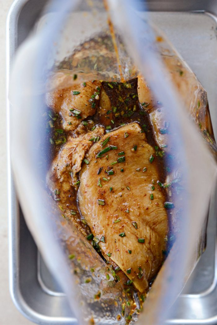 pull chicken out while preheating your outdoor grill.