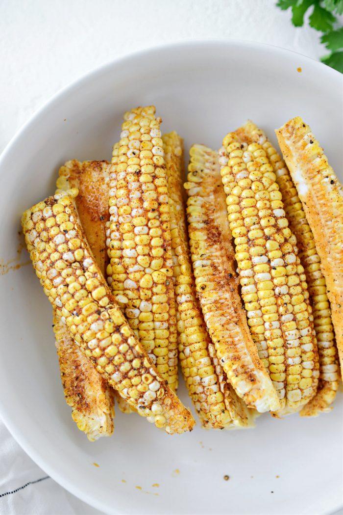 oiled corn in bowl