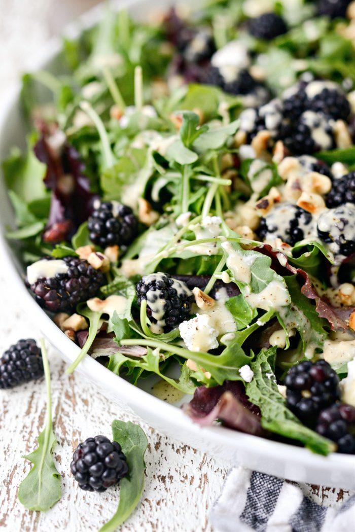 Blackberry Hazelnut Spring Salad