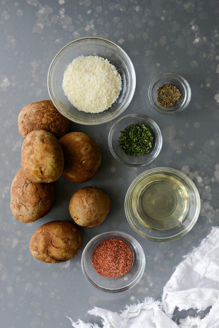 crispy potato wedges ingredients