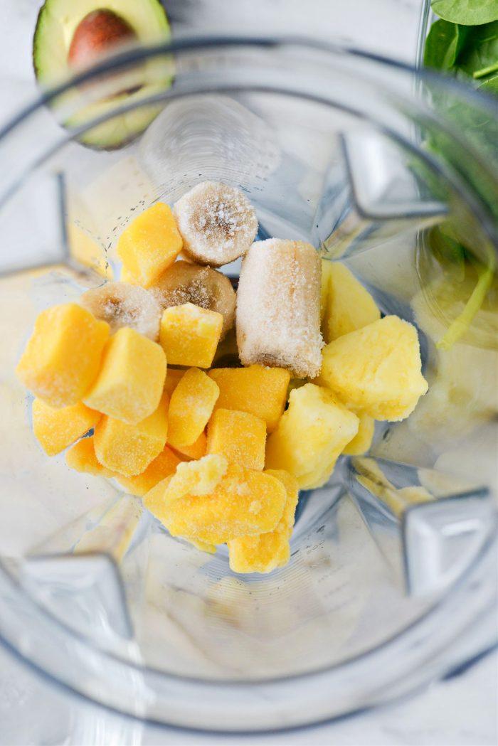 add frozen fruit to a blender