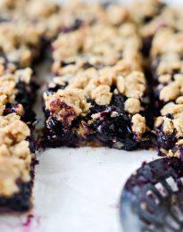 Blueberry Crumb Pie Bars