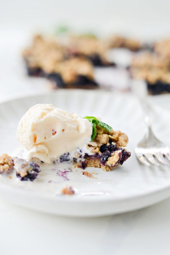 missing bite in Blueberry Oatmeal Crumb Pie Bars