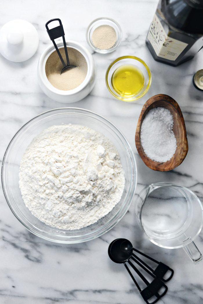 ingredients for Homemade Mini Pita Bread