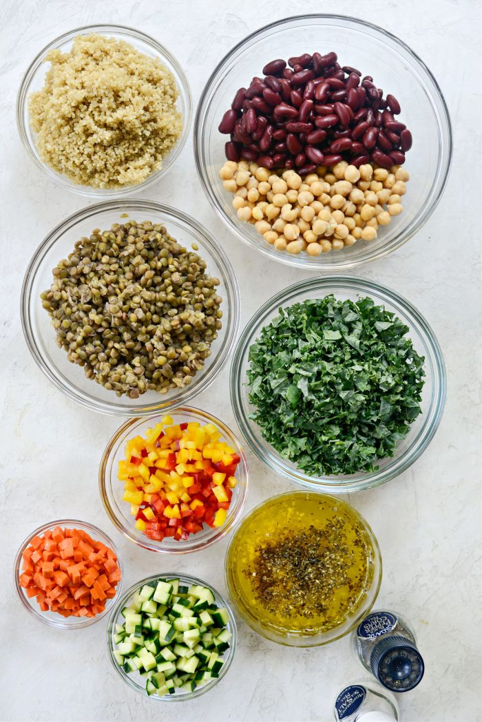 Ingredients for Marinated Confetti Picnic Salad
