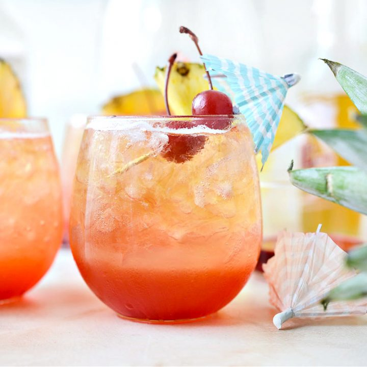 Pineapple Tequila Sunrise Shandy