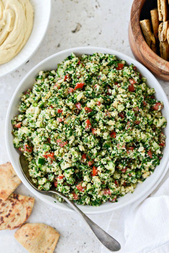 Roasted Cauliflower Tabbouleh