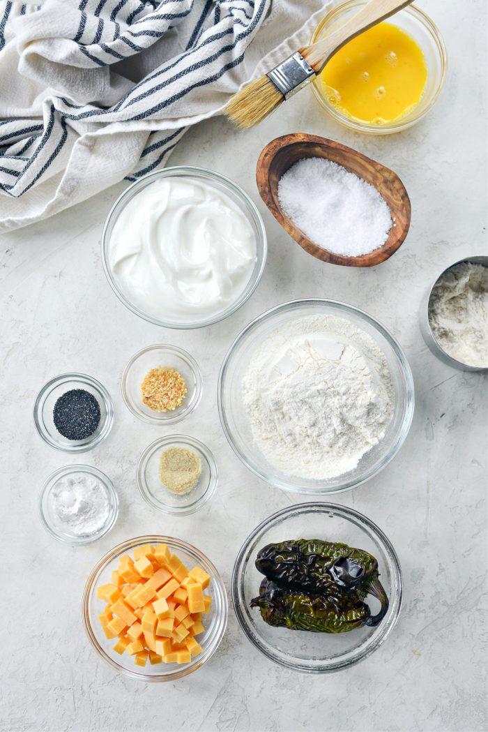 ingredients for Air Fryer Jalapeno Cheddar Bagels
