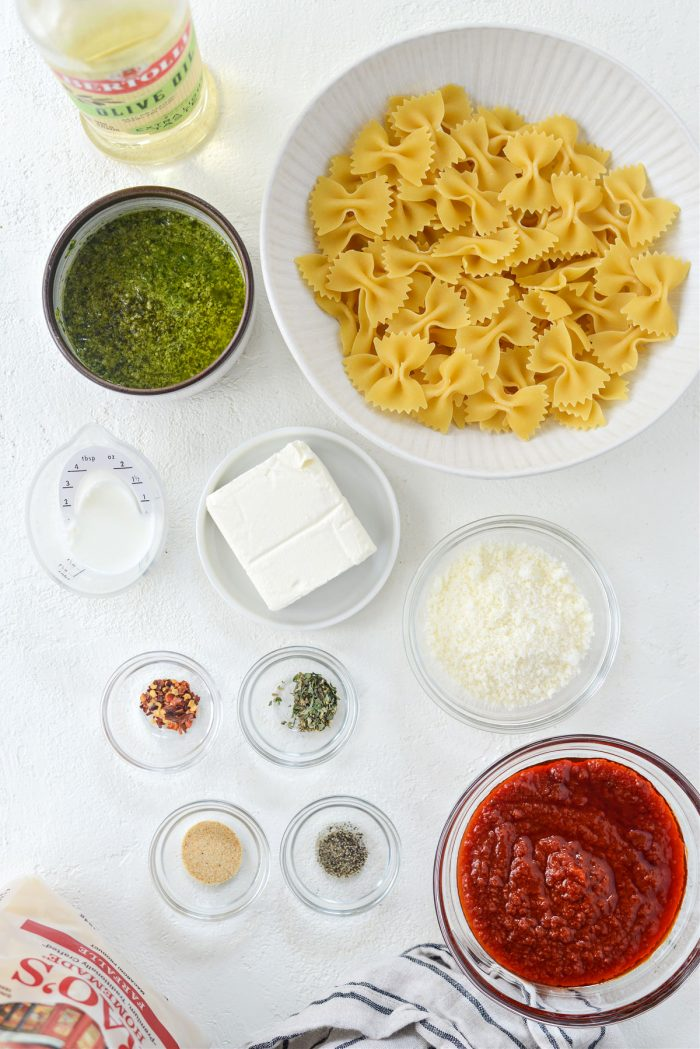 ingredients for pasta chips