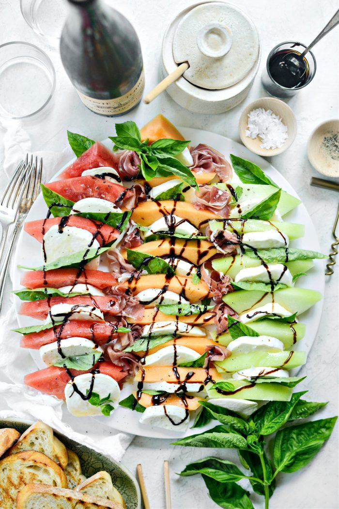 drizzle with honey and balsamic glaze