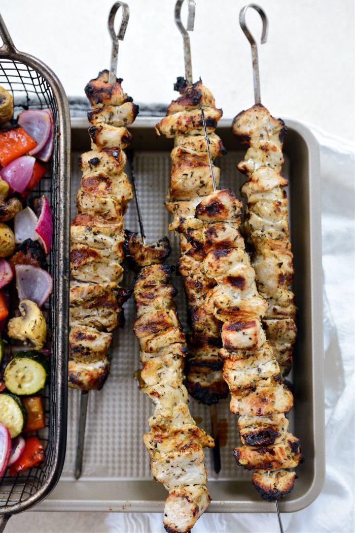 Chicken Souvlaki off the grill