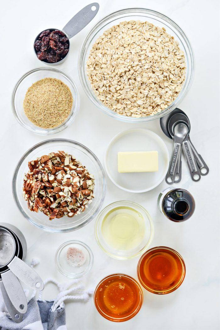 ingredients for Fruit and Nut Granola