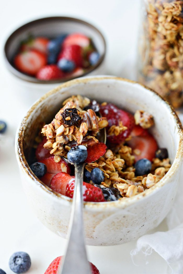 spoonful of Fruit and Nut Granola