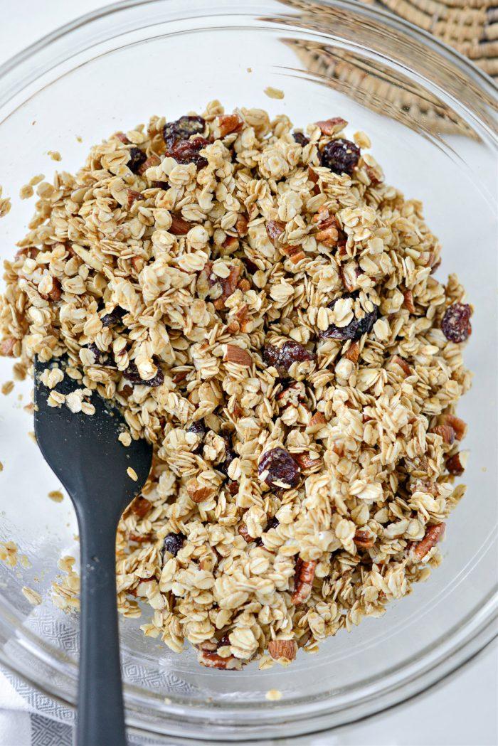 oat mixture tossed tossed in butter mixture