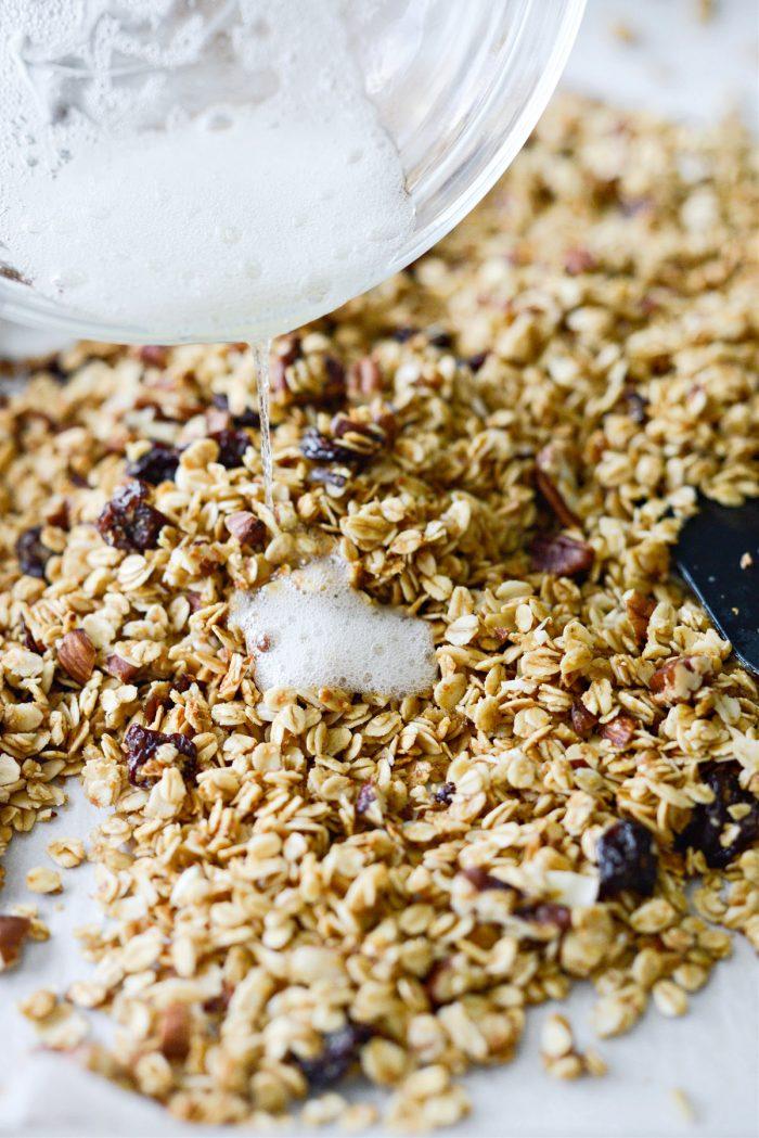 add egg whites to baked granola