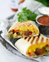 Grilled Breakfast Burritos