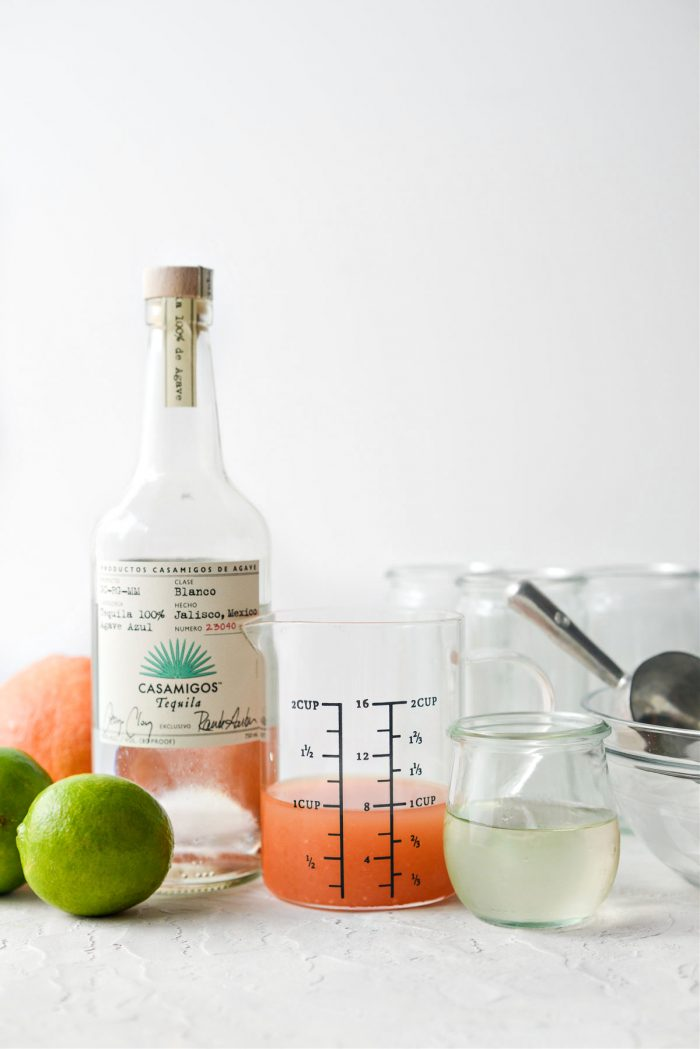 ingredients for Paloma Slush