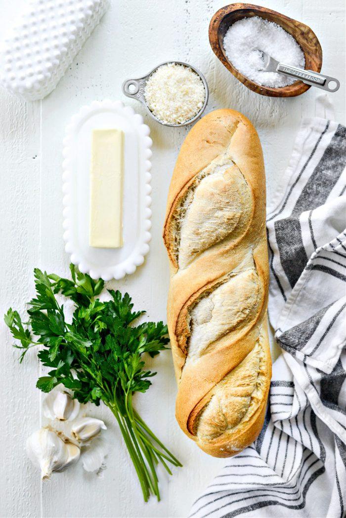 ingredients for 15-minute Garlic Bread