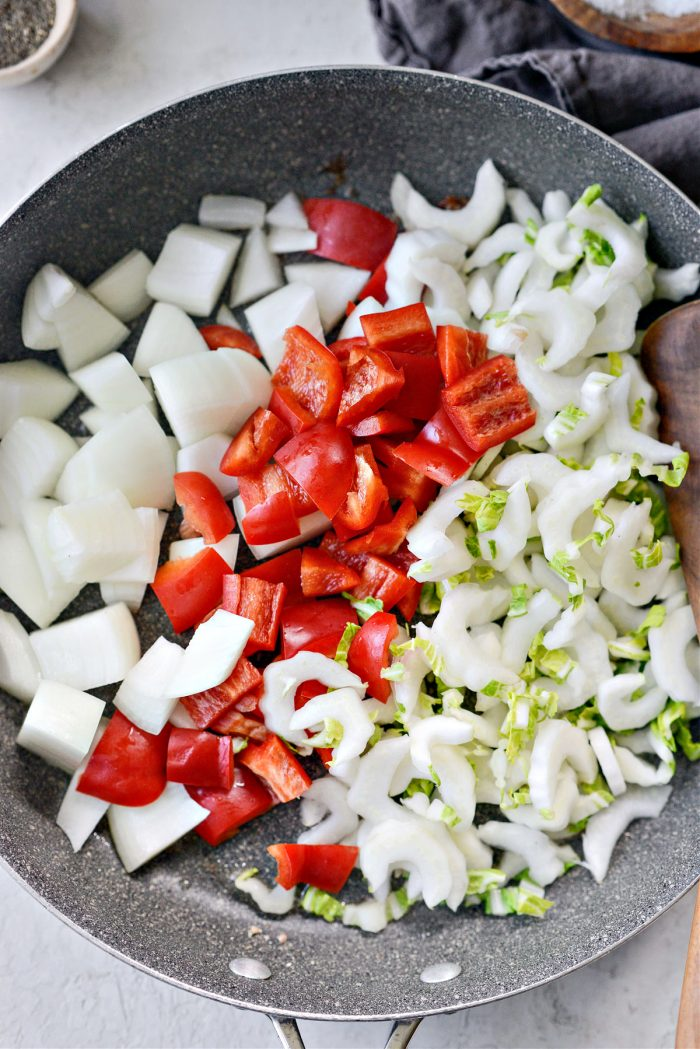add veggies to skillet