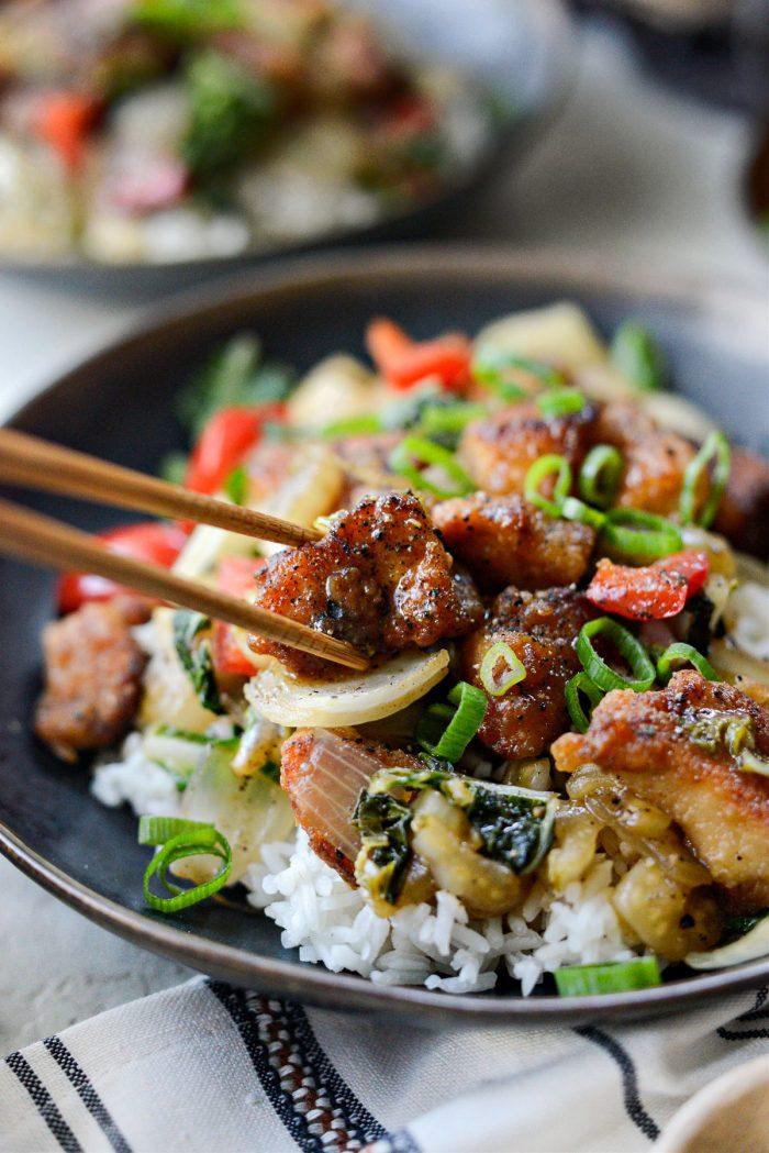 Black Pepper Chicken Stir-fry