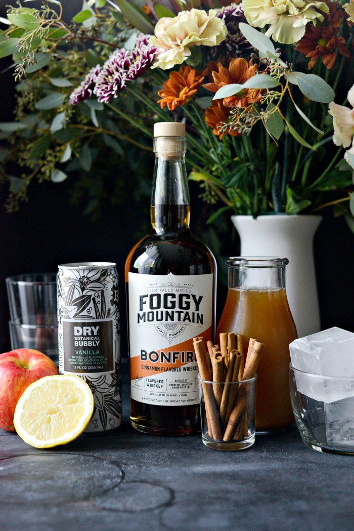 ingredients for Bonfire Cider
