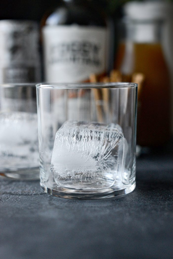 ice in glass