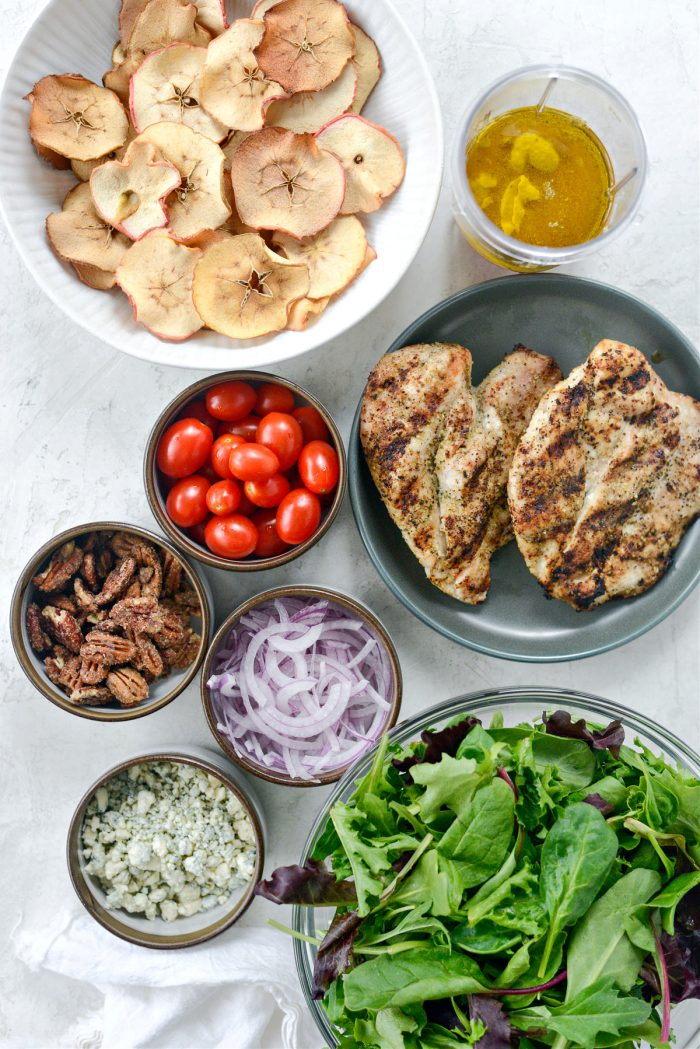 Ingredients for Fuji Apple Salad