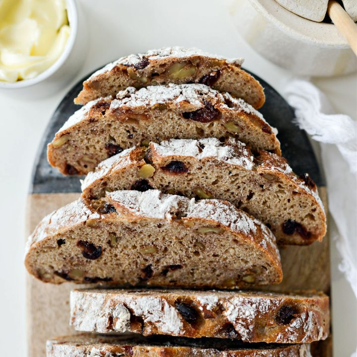 No-Knead Cranberry Walnut Bread