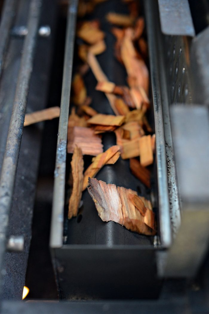 wood chips in smokebox