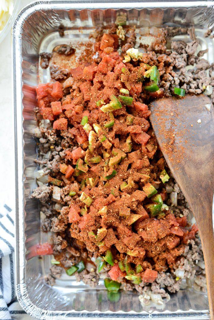 measure and add taco seasoning