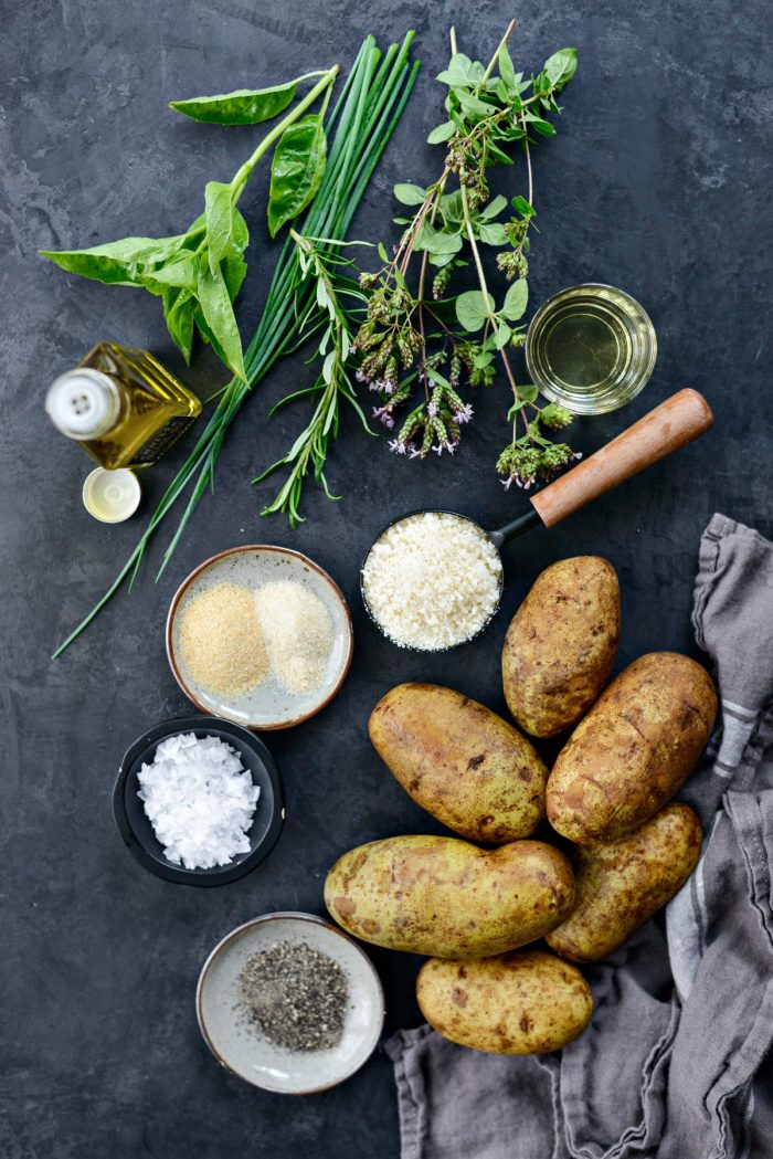ingredients for Truffle Parmesan Fries